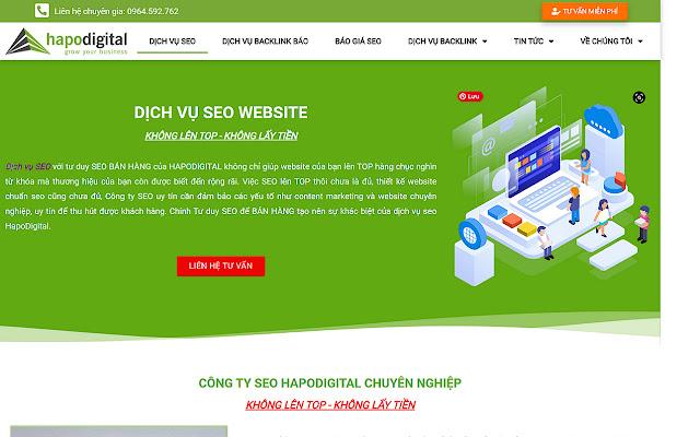 HapoDigital có nhiều năm kinh nghiệm thực chiến khi giúp cho website của khách hàng lên top