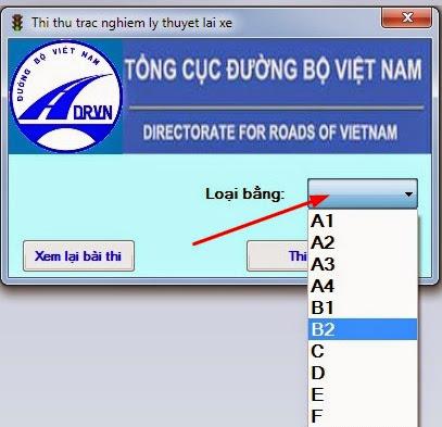 download phần mềm thi sát hạch lái xe hạng b2 4